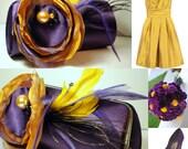 Lapis Color Bridesmaid Clutch - Bridesmaid Bouquet Clutch - Bridesmaid Gift Idea - Custom Clutch Collection - Personalized Clutch