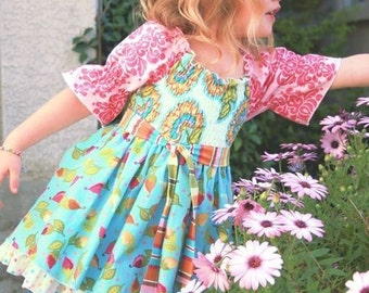The Mia Top Pattern sz 12 mos -10yrs for Girls