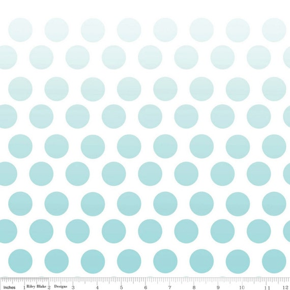 SALE - Riley Blake Ombre Dots in Aqua  - Fat Quarter