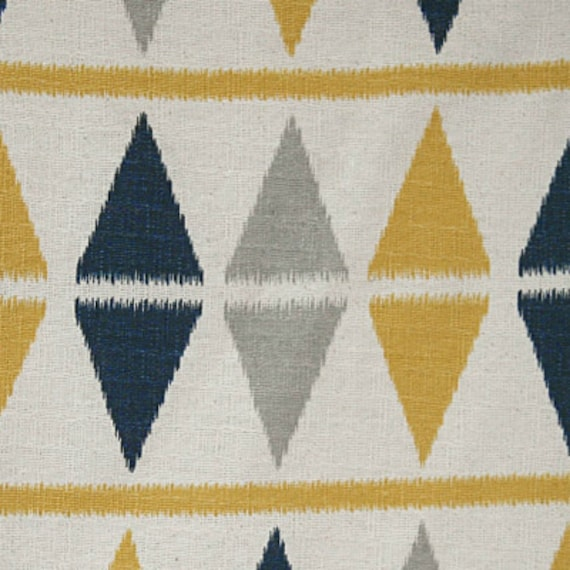 Premier Prints Fabric Ikat Argyle in Nina Birch - Half Yard