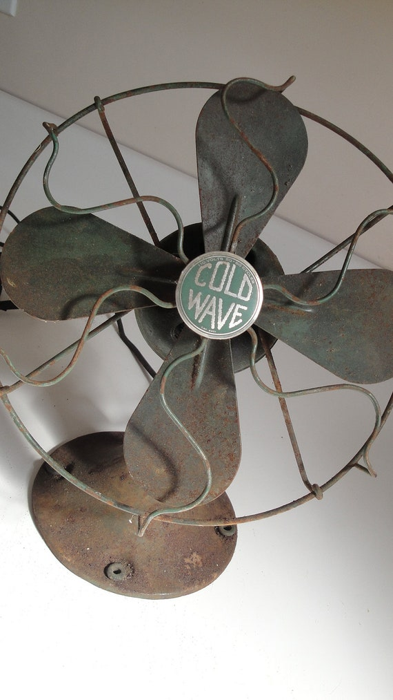 On Vacation Order Ships 9/10/12 1930s Vintage Cold Wave Electric Fan Works