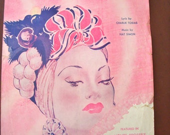 Vintage Sheet Music - 1940's Piano Song