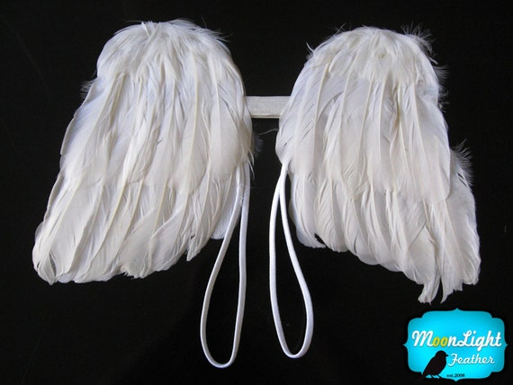 1 Piece - NATURAL WHITE Handmade kids Feather Angel Wing : 2023