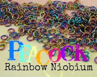 100 Custom Handmade Anodized Niobium 20 gauge Jump Rings in Your Pick of Color and Diameter