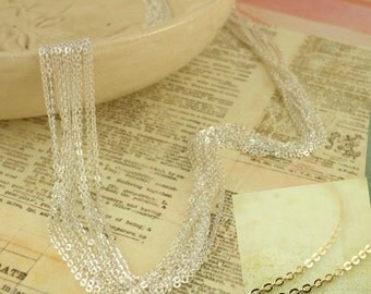 3 Silver or Gold Plated Cable Chains - 1mm - 18 inch - Made in the USA - These Are The Best - Your Choice