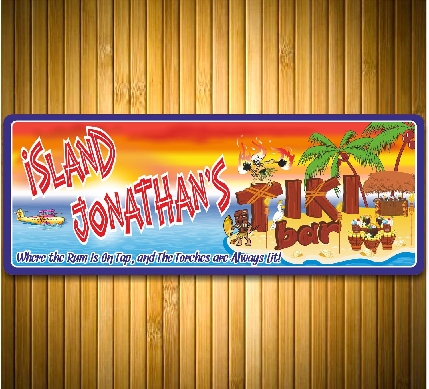 Backyard Tiki Bar Names : Request a custom order and have something made just for you