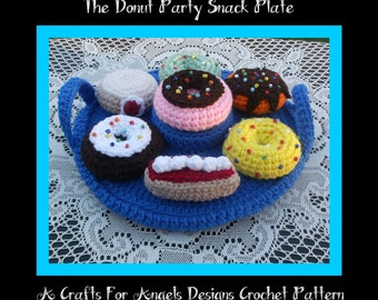 The Donut  Party Snack Set. Crochet Pattern