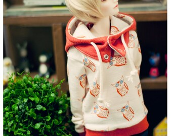 SD 13 Girl Owl hooded-T - Beige