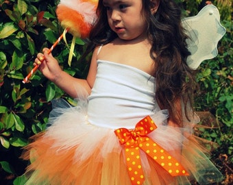 Candy Corn Triple Layer Tutu - Perfect for Halloween available in any size newborn - 5t