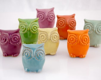 small ceramic owlet  - choose your color