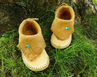Sand Inca Moccasin Handstitched Soft Bullhide Leather Upper With A Durable Flexible VIBRAM Sole / Hobbit Renaissance Mens Womens Moccasins