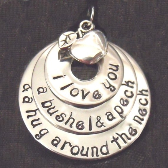 I Love You A Bushel And A Peck Necklace: I LOVE YOU A Bushel And A Peck By Littlepieceofmyart On Etsy