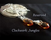 Reserved for Hanna Clock Hand Earrings