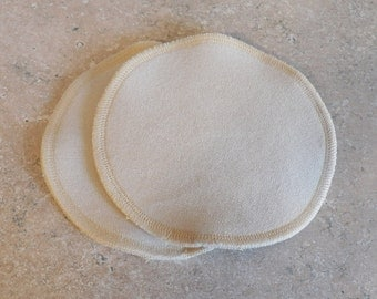 "100% Merino Wool Nursing Pads- Large- 5"" diameter"