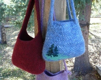 Wild Woolie Felted Bag PATTERN
