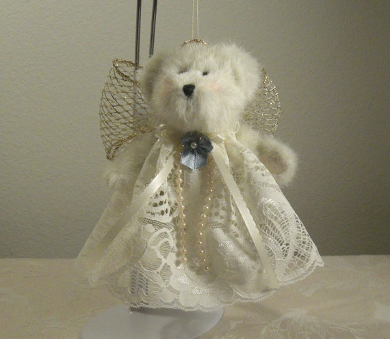 Handmade Christmas Ornament Boyds Bear Lacey Hanging Ornament Personalized Free