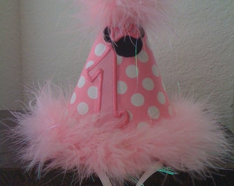 Minnie Mouse Custom Boutique Birthday Girl ,hat candy Pink