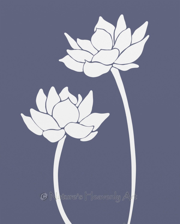Wall Art Lotus Flower : Lotus flower wall decor living room by