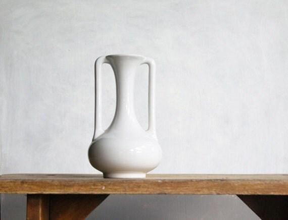 White Art Deco Vase by Trenton Potteries