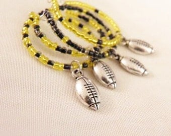 Black and Yellow Wing Glass Charms