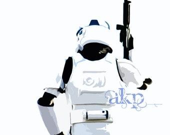 "10"" x 10"" Stormtrooper Canvas Photo Art"