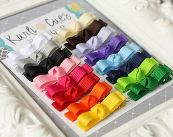 Itty Bitty Boutique Tuxedo Hair Clippies - Set of 16 - Basic Starter Set - Snap Clips Available