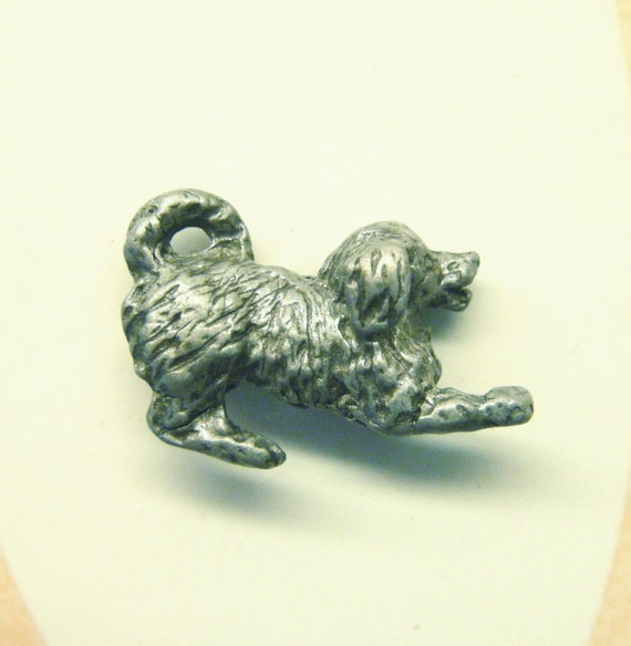 Buttons 2 Play Bow Dog Puppy Pewter Metal ANIMAL CHARITY DONATION