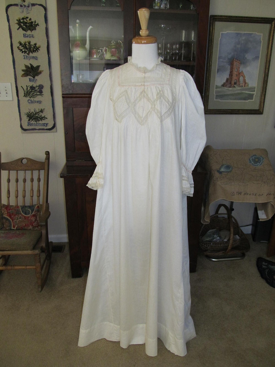 Sale Priced 1890 Bridal Victorian Nightgown