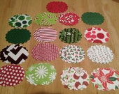 48 Round Scallop Christmas Tags  2 inch