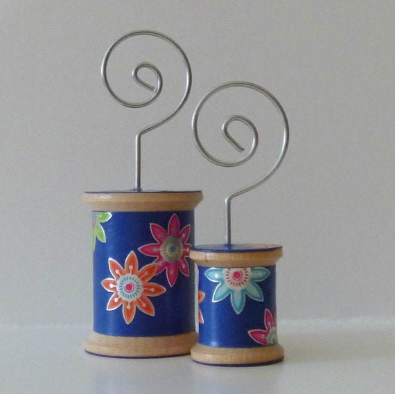 FREE SHIPPING - Flowers on Blue - Cool Spools