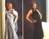 simplicity retro costume collection pattern 8817 - theresa laquey gown and evening wrap - (1999) - UNCUT