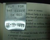 AA Recovery Jewelry Hand-Stamped Metal Bookmark