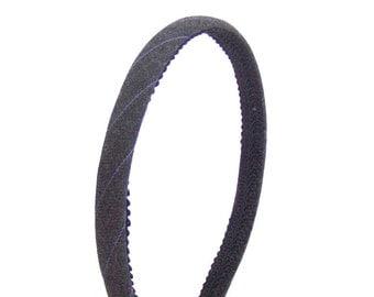 Skinny Pinstripe Headband - Gray and Periwinkle - Preppy Blair Waldorf Headband for Adults and Girls - Fabric Covered Hard Headband