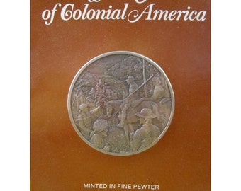 Daniel Boone Blazes the Wilderness Trail - 1769 - Official History of Colonial America Pewter Medal by The Franklin Mint