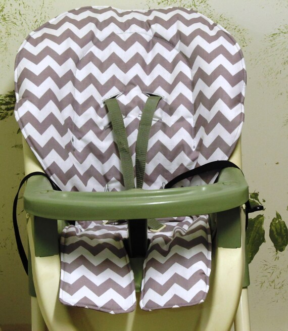 High Chair Graco Zig Zag Replacement Padcover Gray Chevron