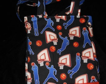 Basketball Fabric  Hoops Diaper Bag for Infant or Toddler
