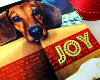 Christmas Morning Joy Dachshund Card