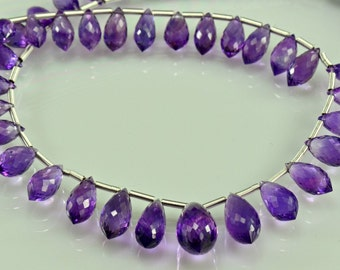 Sale -Amethyst Chandelier Briolettes AAA  Micro Faceted Amethyst Beads