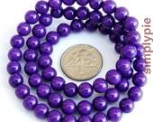 Purple Mountain Jade Gemstone Beads 6mm Round Full Strand