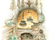 Kitchen - original watercolor painting
