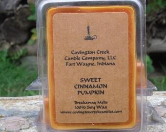 Sweet Cinnamon Pumpkin Pure Soy Covington Creek Candle Company  Breakaway Melt.