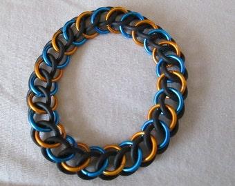 Orange and Blue Persian Stretch Bracelet