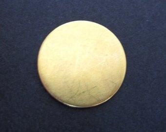 10 pcs - Brass 1.5  inch Round Disc 22 Gauge - for Hand Stamping Jewelry