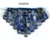 Denim Blue Sodalite Cleopatra Mini Fan Beads Set 13 pc