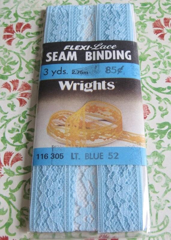 Vintage Wright's Light Blue Flexi- Lace Seam Binding
