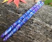 "Purple Rain/ Blurple acrylic hair sticks choose 5"" 6"" 7"""