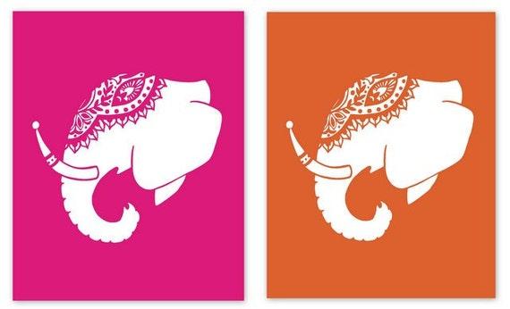 Indian Elephant Head Silhouette