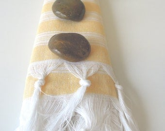 turkish bath towel - peshtemal towel - turkish towel - yellow turkish beach towel - turkish blanket  Bathroom - spa towel - beach towels -
