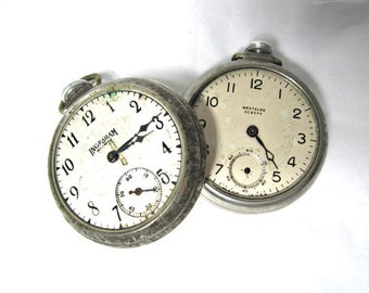 Vintage Pocket  Watches Decorative Without Crystals Two Total