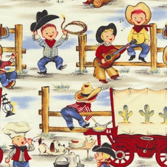 vintage cowgirl fabric eBay